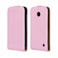 Чехол вертикальная книжка на пластиковой основе для Nokia Lumia 630/635 Розовый