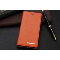 Кожаный чехол портмоне подставка для Sony Xperia M2 dual Оранжевый