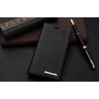Кожаный чехол портмоне подставка для Sony Xperia M2 dual Черный