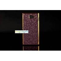 Пластиковый матовый чехол текстура Соты для Sony Xperia M2 dual Бордовый