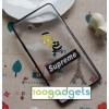 Гибридный чехол силиконовый бампер/поликарбонатная накладка с принтом для Samsung Galaxy A3