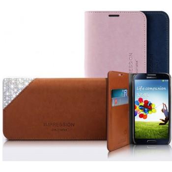 Премиум чехол-портмоне кожа и стразы для LG Optimus G3