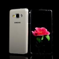 Двухмодульный силиконовый чехол горизонтальная книжка с транспарентной акриловой смарт крышкой для Samsung Galaxy A3 Серый