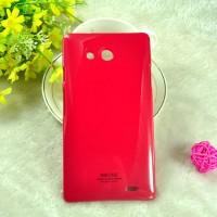 Пластиковый непрозрачный чехол для Huawei Ascend Mate Красный