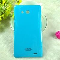 Пластиковый непрозрачный чехол для Huawei Ascend Mate Голубой