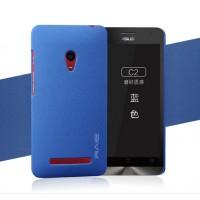 Пластиковый матовый чехол с повышенной шероховатостью для ASUS Zenfone 5 Синий