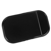 Нескользящий автомобильный силиконовый коврик для гаджетов 14х8 см для HTC One (M7) Dual SIM (802w)