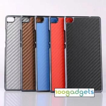 Текстурный поликарбонатный чехол с карбоновым покрытием для Huawei P8
