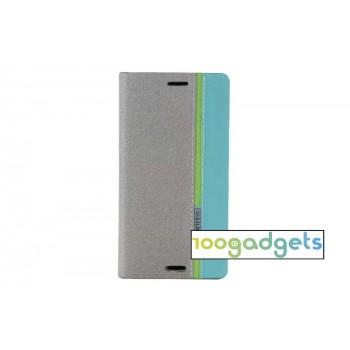 Чехол портмоне подставка на силиконовой основе дизайн Полосы для Sony Xperia M4 Aqua