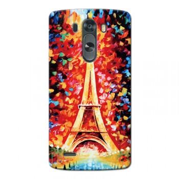 Пластиковый чехол с принтом LG G3 серия Passion