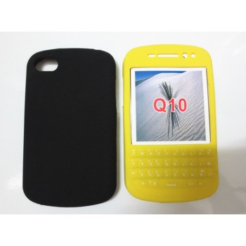 Силиконовый матовый непрозрачный чехол для BlackBerry Q10
