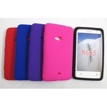 Силиконовый матовый непрозрачный чехол для Nokia Lumia 625