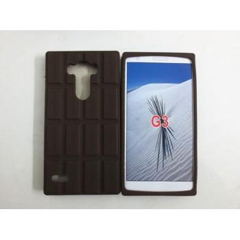Силиконовый дизайнерский фигурный чехол Шоколадка для LG G3