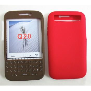 Силиконовый матовый непрозрачный чехол для Blackberry Classic