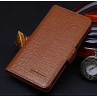 Кожаный чехол портмоне (нат. кожа крокодила) для Samsung Galaxy Grand Prime