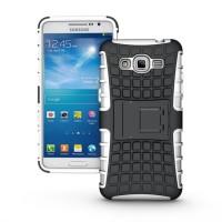 Силиконовый чехол экстрим защита для Samsung Galaxy Grand Prime Белый