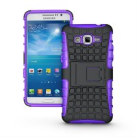 Силиконовый чехол экстрим защита для Samsung Galaxy Grand Prime Фиолетовый