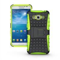 Силиконовый чехол экстрим защита для Samsung Galaxy Grand Prime Зеленый