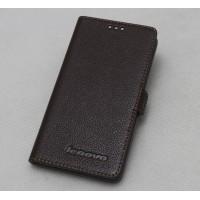Кожаный чехол горизонтальная книжка (нат. кожа) для Lenovo S850