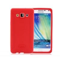 Силиконовый матовый непрозрачный чехол с нескользящими гранями для Samsung Galaxy A5