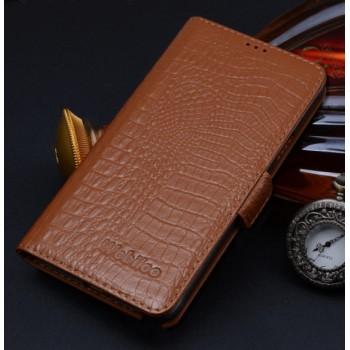 Кожаный чехол портмоне (нат. кожа крокодила) для Samsung Galaxy A5