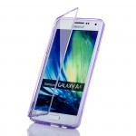Двухмодульный силиконовый чехол горизонтальная книжка с транспарентной акриловой смарт крышкой для Samsung Galaxy A5