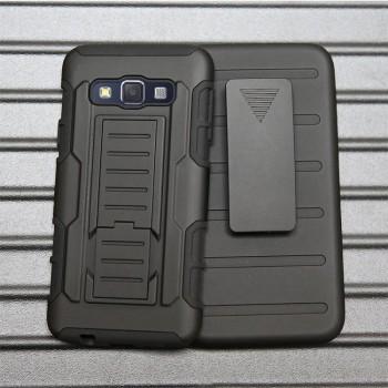 Трехкомпонентный ударостойкий силиконовый чехол с поликарбонатной крышкой и независимым защитным модулем для экрана на клипсе под ремень для Samsung Galaxy A5