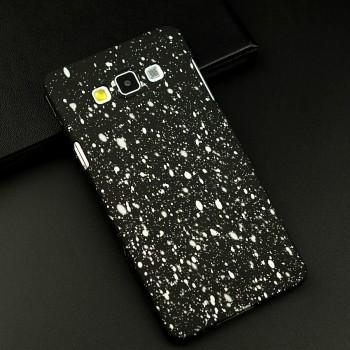 Пластиковый матовый дизайнерский чехол с голографическим принтом Звезды для Samsung Galaxy A7