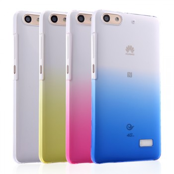 Пластиковый градиентный полупрозрачный чехол для Huawei Honor 4C