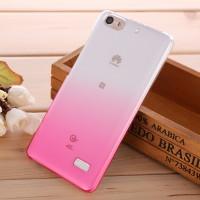 Пластиковый градиентный полупрозрачный чехол для Huawei Honor 4C Розовый