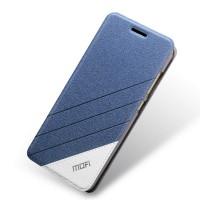 Текстурный дизайнерский чехол флип подставка на силиконовой основе для Huawei Honor 4C Синий