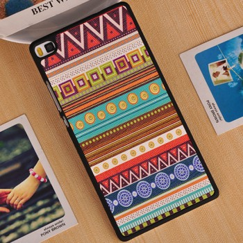 Пластиковый матовый дизайнерский чехол с УФ-принтом для Huawei P8 Lite