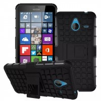 Силиконовый чехол экстрим защита для Microsoft Lumia 640 XL Черный
