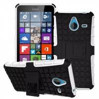Силиконовый чехол экстрим защита для Microsoft Lumia 640 XL Белый