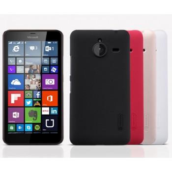Пластиковый матовый нескользящий премиум чехол для Microsoft Lumia 640 XL