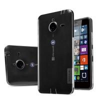 Силиконовый матовый полупрозрачный чехол для Microsoft Lumia 640 XL Белый