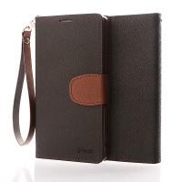 Чехол портмоне подставка на силиконовой основе с дизайнерской защелкой и ремешком для Sony Xperia Z3+ Коричневый