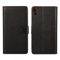 Чехол портмоне подставка с защелкой для Sony Xperia Z3+ Черный