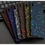 Пластиковый матовый дизайнерский чехол с голографическим принтом Звезды для Sony Xperia Z3+