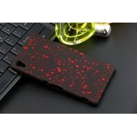 Пластиковый матовый дизайнерский чехол с голографическим принтом Звезды для Sony Xperia Z3+ Красный