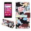 Чехол портмоне подставка с полноповерхностным принтом и магнитной защелкой для Sony Xperia Z3+
