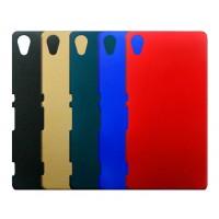 Пластиковый матовый Металлик чехол для Sony Xperia Z3+