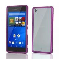 Металлический бампер для Sony Xperia Z3+ Фиолетовый