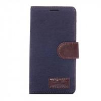 Тканевый чехол портмоне подставка с защелкой для Sony Xperia Z3+ Черный