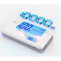 Портативный аккумулятор с USB-портом экспресс-заряда и LCD-экраном 10000 мАч для Samsung Galaxy A3 (duos, SM-A300DS, SM-A300F, SM-A300H, sm-a300, a300h, a300f)