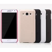 Пластиковый матовый нескользящий премиум чехол для Samsung Galaxy E5