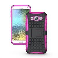 Силиконовый чехол экстрим защита для Samsung Galaxy E5 Пурпурный