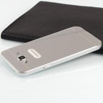 Двухкомпонентный чехол с металлическим бампером и поликарбонатной накладкой для Samsung Galaxy E5