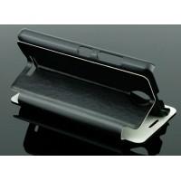 Чехол флип подставка на пластиковой основе для Lenovo A5000 Черный