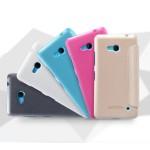 Текстурный чехол флип на пластиковой матовой нескользящей основе для Microsoft Lumia 640